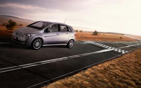 Rails, Mercedes, traccia, strada, gioco, auto