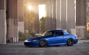 синий, тюнинг, Honda, хонда