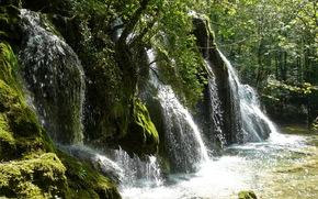 waterfalls, France, franche-comte cascades des tufs, nature