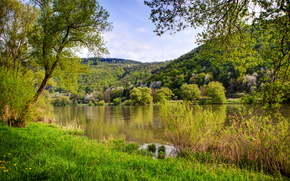 river, Germany, landscape, nehren, nature