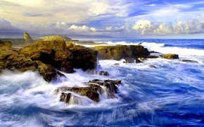 Meer, Steine, surfen