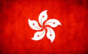 Stella, Hong Kong, rosso, bandiera, struttura