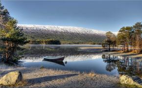 lac, bateau, Norvge
