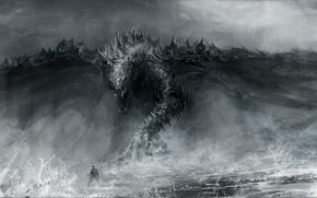 арт, рисунок, дракон