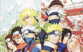 anime, naruto, sasuke, sakura, kakashi, minato, rin, obito