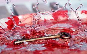 chiave, Macro, acqua