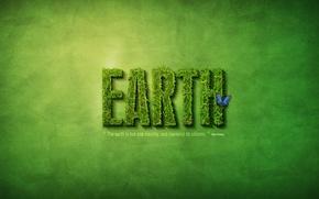tierra, Tierra, hierba, mariposa, inscripcin.
