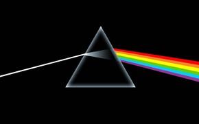 призма, черное, радуга