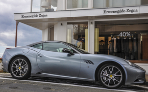 calle, California, cielo, Ferrari, Ferrari, ir de compras
