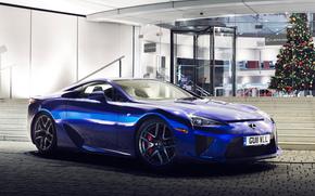 blu, Carta da parati, LFA, anteriore, macchina, auto, Lexus, Lexus, nuovo
