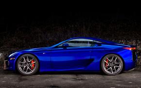 Сбоку, Lexus, Машина, Синий, Обоя, ЛФА, Автомобиль, Лексус, Красивая