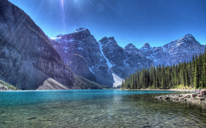 moraine lake, banff national park, alberta, canada, valley of the ten peaks, Озеро Морейн, Банф, Альберта, Канада, горы, озеро