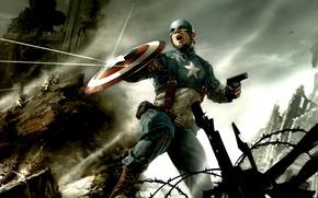 щит, комиксы, Капитан Америка