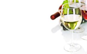 vino, rosso, bianco, calici, bottiglia