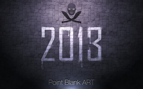 pb, wall, year, logo, Point blank