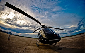 aviation, helicopter, sky