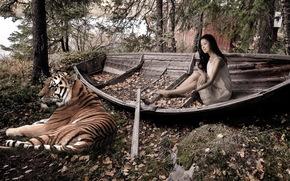 barco, tigre, nia