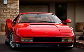 Ferrari, Ferrari, rojo, Testarossa, edificio
