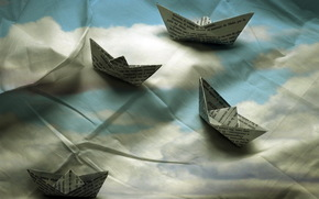 background, boats, tissue