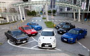 Nissan, Linea dell'orizzonte, GTR, auto, macchinario, Auto
