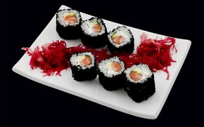 rotolare, Cucina giapponese, sushi, Rolls