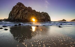 море, скалы, пейзаж