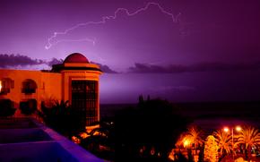 tropics, lightning, evening