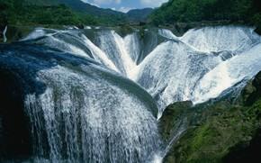 landscape, waterfalls, Mountains