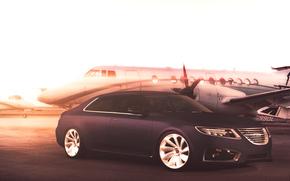 Saab, 9-5, Auto, macchinario, auto, auto, sfondi,