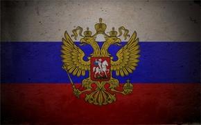 struttura, bandiera, tricolore, stemma, Russia, Double Eagle