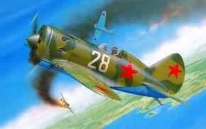 nickname, Soviet, in, ishachok, piston, plane, Retractable, monoplane, single-engined, EDO, with, serial, nizkoplan, Art, created, world, high-speed, first, chassis, Polikarpov, fighter
