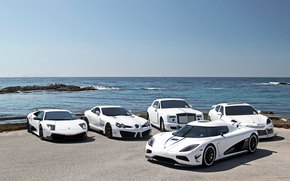 Rolls-Royce, Koenigsegg, Altri marchi, Lamborghini, Porsche, supercar, Mercedes, bianco