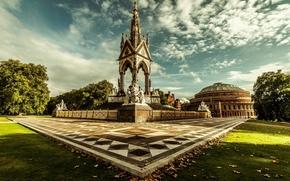 Великобритания, Лондон, Мемориал принца Альберта, королевский парк, Кенсингтонский сад, Англия