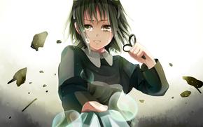 Art, Tears, scissors, girl, Vocaloid