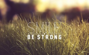 hierba, inscripcin, sonrer ser fuerte.