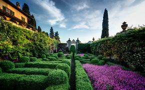 为capponi别墅, Arcetri的, 佛罗伦萨, 意大利, 别墅Capponi, Arcetri的, 佛罗伦萨, 意大利, 花园