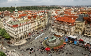 city, Prague, home, building, The Old Town Square