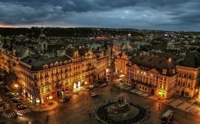 город, прага, дома, здания, староместская площадь