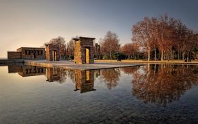 Il Tempio di Debod, Madrid, autunno