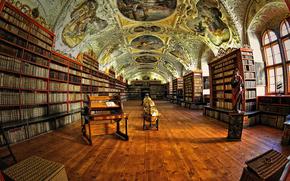 Teologica Hall di Strahov, Praga, Visione degli occhi di pesce