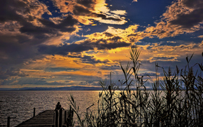 valencia, spain, Albufera Natural Park, sunset, landscape
