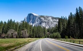 yosemite national park, california, Йосемити, Калифорния, горы, лес, деревья, дорога