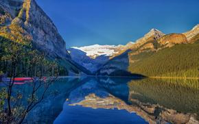 lake louise, banff national park, alberta, canada, Банф, Альберта, Канада, озеро, горы, отражение