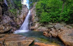 Wasserfall, USA, Steine, Schlucht Ellis, New Hampshire, Rock, Natur