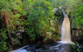 Водопад, ЮАР, overberg, Природа