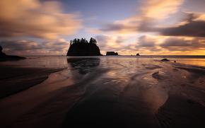tramonto, Spiaggia vicino a La Push, Washington