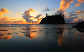 pr do sol, Praia perto de La Push, Washington