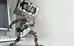 гитара, касета, музыка, драйв