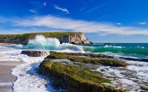 mare, onde, Rocks, cielo, paesaggio