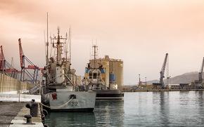city, Ships, wharf